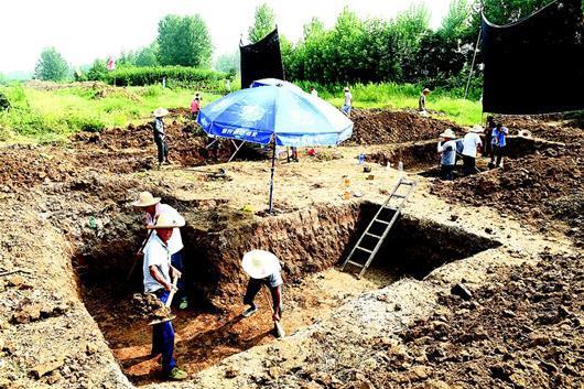 图为考古发掘现场。(视界网 安富斌 记者 夏永辉 摄)