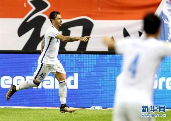 (体育)(1)足球——中超:上海绿地申花不敌贵州恒丰智诚