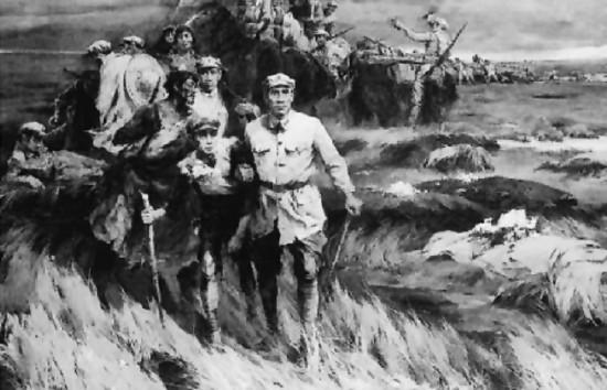 峥嵘岁月  (油画)1979年    林冈  庞涛  作