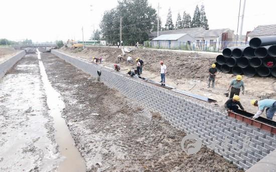 大丰红星河疏浚整治施工进行时 总投资2800万