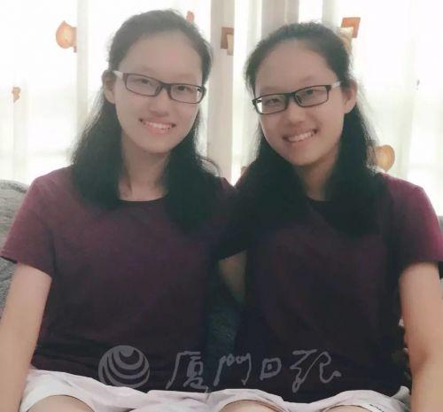 厦门双胞胎姐妹高考分数一样 考上的学校专业也一样!