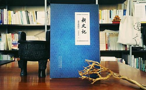 《新史记・秉笔画时代》书封,该书由河北教育出版社出版。符向阳 摄