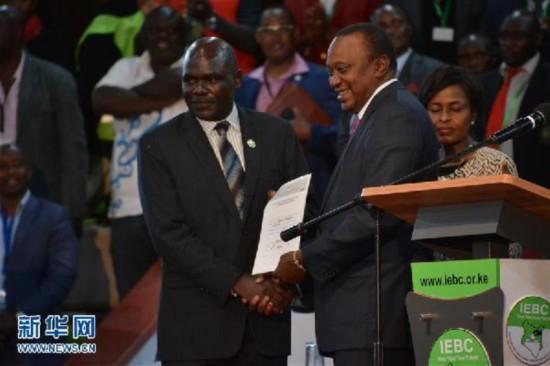 (国际)(1)肯尼亚现任总统肯雅塔赢得连任