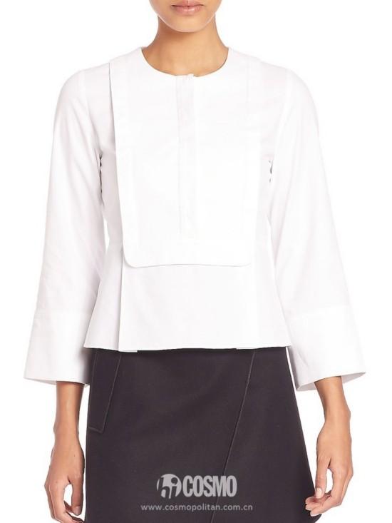 衬衫来自Carven 售价1928元 可从美国SaksFifthAvenue购买