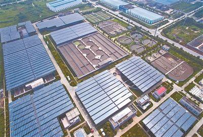 扬州建成首个污水光伏电站 总装机容量9.7兆瓦