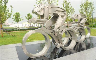 全运村体育雕塑 展现体育文化--天津频道--人民网