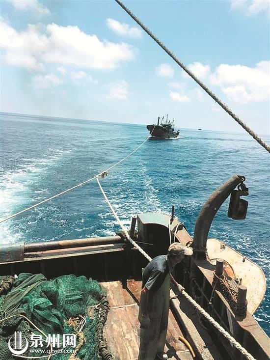 惠安失联渔船找到9名船员平安 因动力故障海上漂流多日