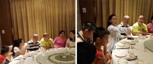 张柏芝携全家聚餐 俩儿子专心玩手机