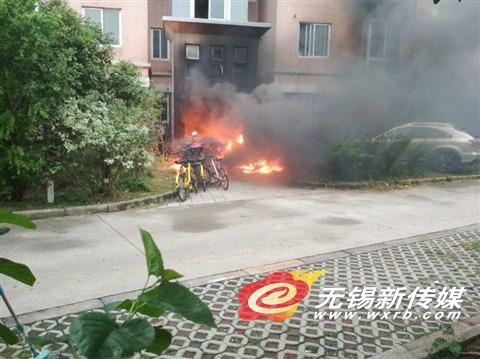 无锡一楼前电动车起火住户遭殃致1人死亡