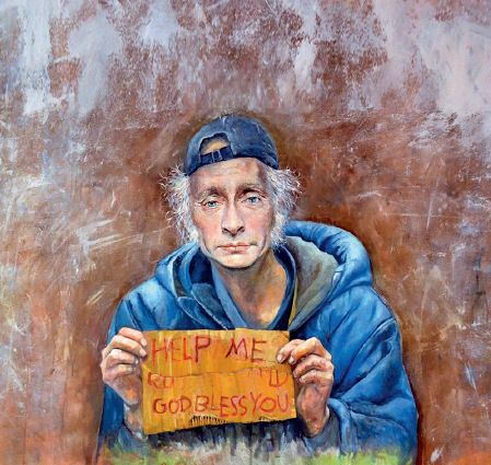 """50-2 ▲叙利亚艺术家奥马利说:""""我创作的目的,并不是侮辱或不尊重各个国家的领导人。而是希望,他们更富有同情心,对难民问题有更多的反思。""""图为奥马利此系列的部分作品。"""