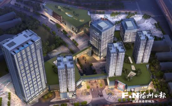 福州苏宁广场将建3条空中天桥走廊 总长度近200米