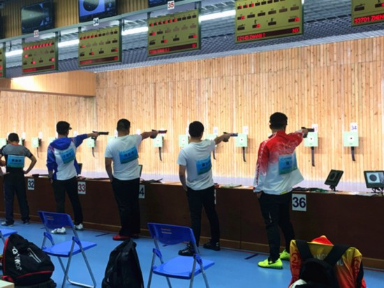 宁夏选手无缘第十三届全运会男子10米气手枪项目决赛