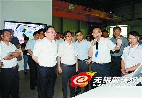 南京党政代表团到无锡考察李小敏会见张敬华