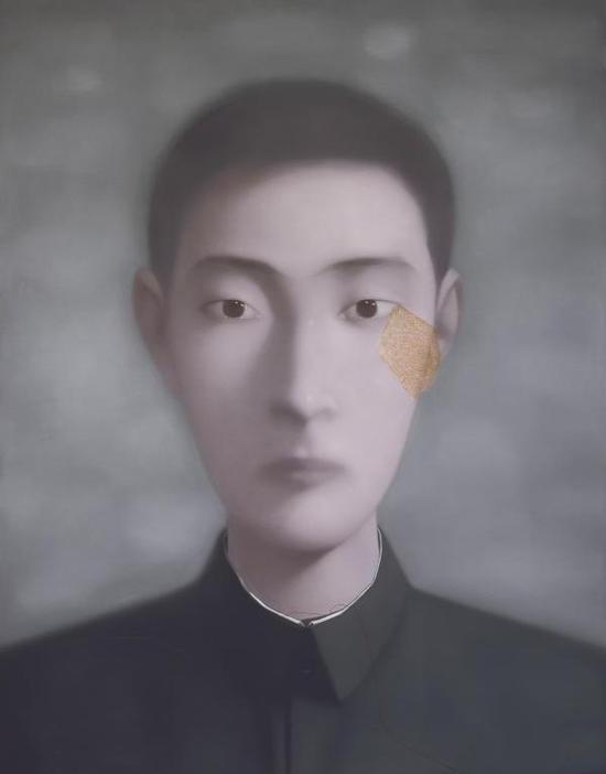 张晓刚《血缘:同志第一百二十号》190x150cm 布面油画 1998年