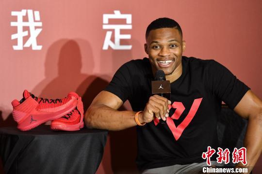 NBA常规赛MVP威斯布鲁克空降广州引爆球迷热情