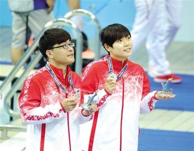 宁夏首枚全运会游泳奖牌诞生