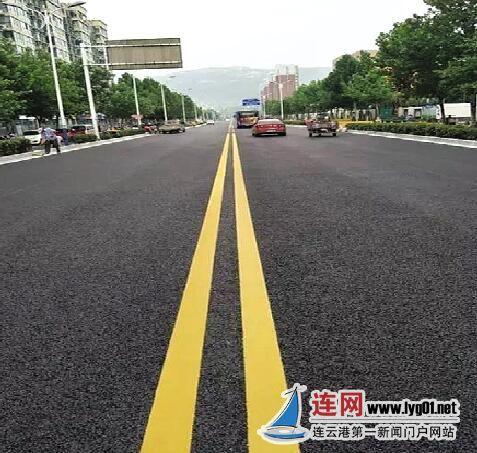 连云港道路黑色化改造出新工程 开学前完工