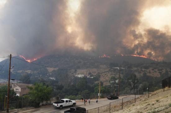 洛杉矶山火 法新社照片