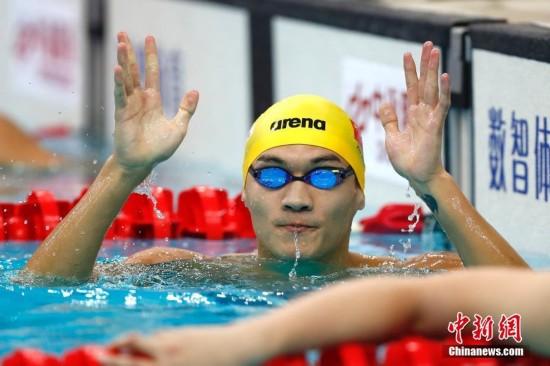 天津全运会 徐嘉余摘男子100米仰泳金牌