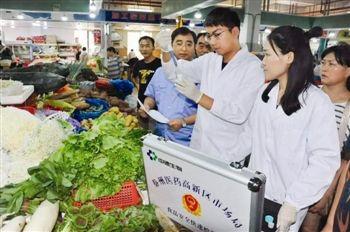 泰州食品快检机构年内全覆盖 可测50多项指标