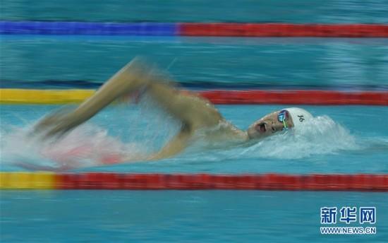(全运会)(7)游泳――男子800米自由泳:孙杨夺冠