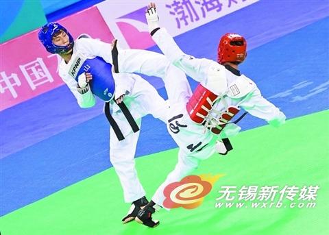 无锡小将勇夺全运会跆拳道冠军