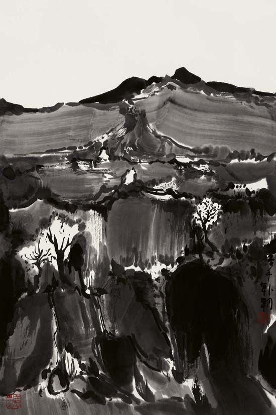 大风景之29,68x45cm,纸本水墨,2014年