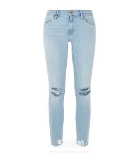 牛仔裤来自Frame 售价2070元 可从英国Harrods购买