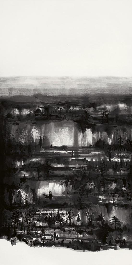 大风景之5    136×68CM  纸本水墨  2012年