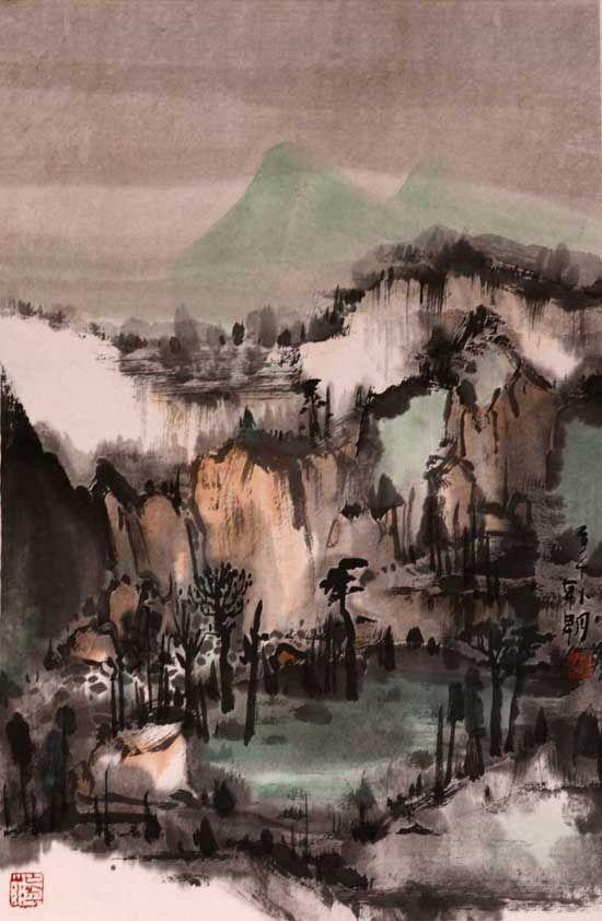山水日记之碧秀,68x45cm,2014年
