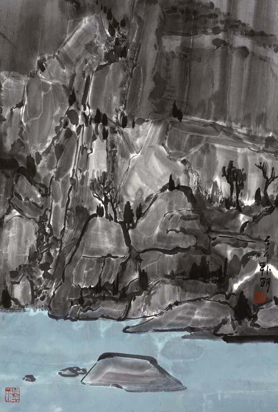 大风景之30,68x45cm,纸本水墨2014年
