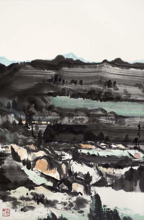 大风景之35,68x45cm,纸本水墨,2014年