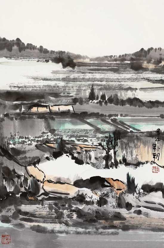 山水日记之东坡,68x45cm,纸本水墨,2014年