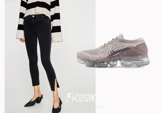 牛仔裤来自C&A 售价249元 可从品牌官网购买  运动鞋来自PUMA 售价769元 可从品牌官网购买