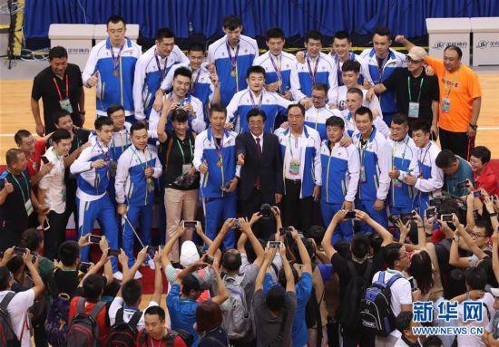 (全运会・领奖台)(5)篮球――男子成年组比赛颁奖仪式