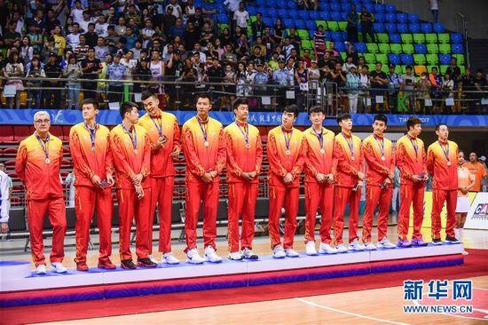 (全运会・领奖台)(4)篮球――男子成年组比赛颁奖仪式