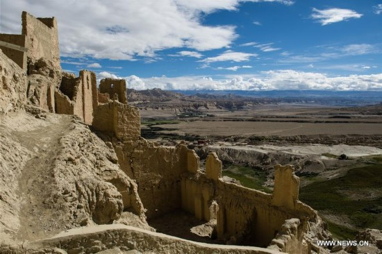 Ruins of Guge Kingdom in SW China's Tibet