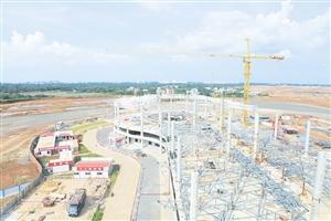 海口美兰机场二期航站楼预计年底主体封顶