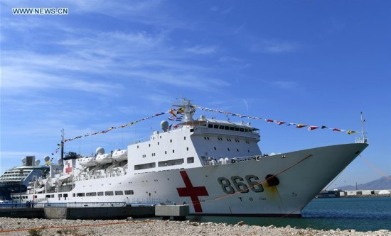 SPAIN-MALAGA-CHINA-PEACE ARK HOSPITAL SHIP