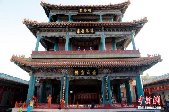 北京故宫畅音阁戏曲馆提升改造进入尾声