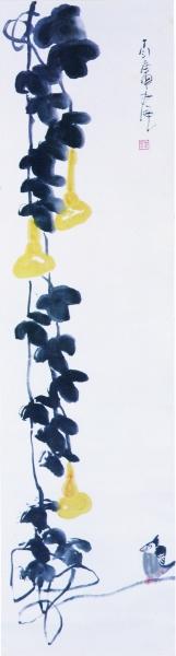 丁衍庸 :葫芦小鸟图(国画) 广州艺术博物院藏