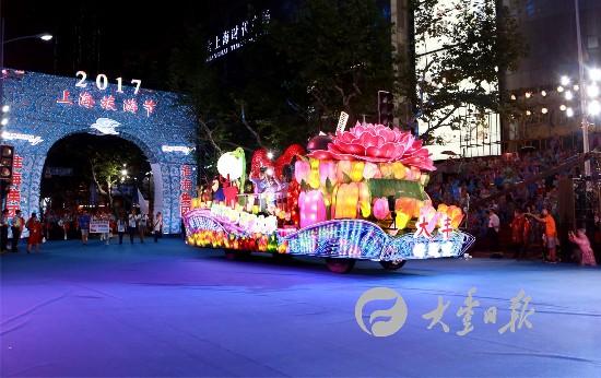 大丰花车连续五年亮相上海国际旅游节