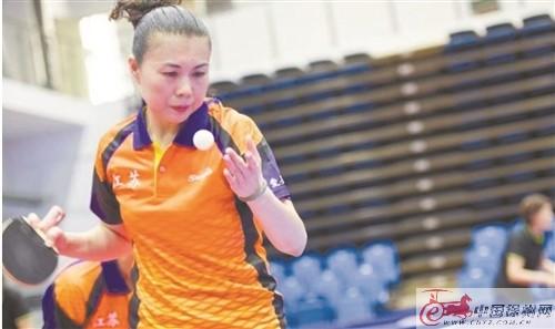 徐州大姐成全运会群众组乒乓球项目双冠王