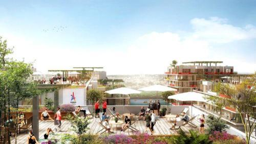 运动员在奥运村的休憩场所的模拟图 (图片来源:巴黎奥组委)
