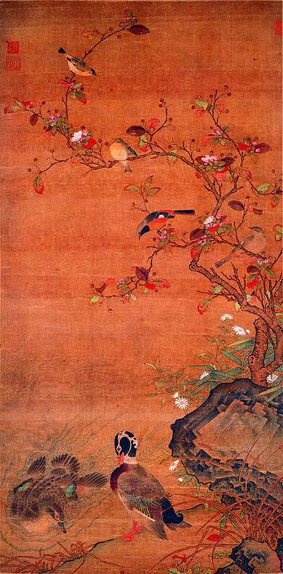 元 任仁发 《秋水凫�p图轴》上海博物馆藏
