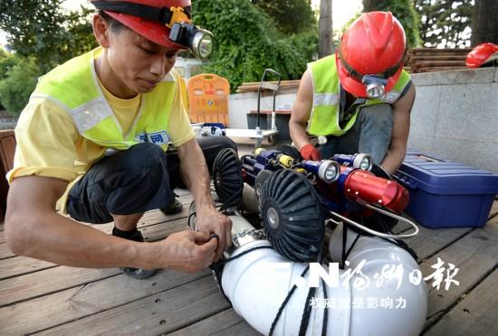 """福州环西湖截污渠首次""""清肠手术""""完成"""