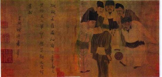 钱选(元)《临苏汉臣宋太祖蹴鞠图》