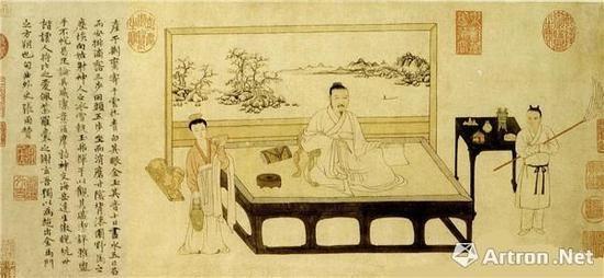元,张雨,《题倪瓒像卷》,台北故宫博物院藏。