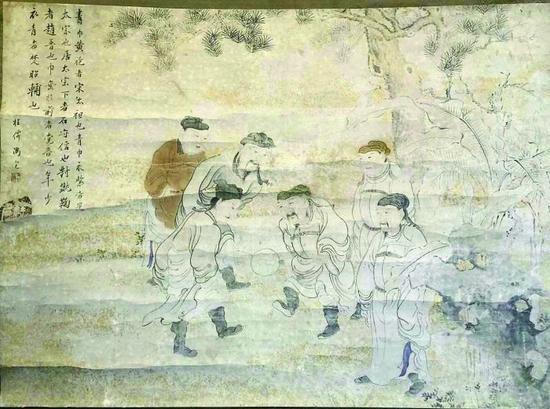 《宋太祖蹴鞠图》