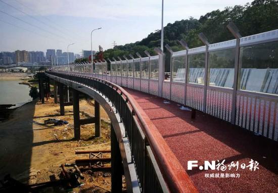 福州福飞北路新建高架桥月底通车 森林公园段拥堵将缓解